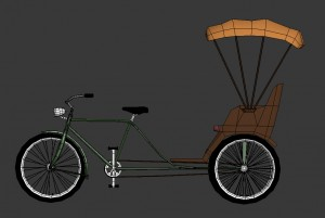 3D bicycle side