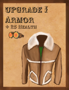 armor upgrade card (+ 25HP) WIP